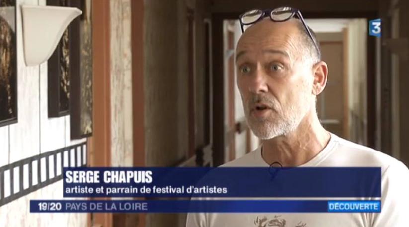 """Reportage sur la """"Villa des Indépendants"""" lors de la venue de France 3 Serge Chapuis Plasticien, Parrain du festival"""