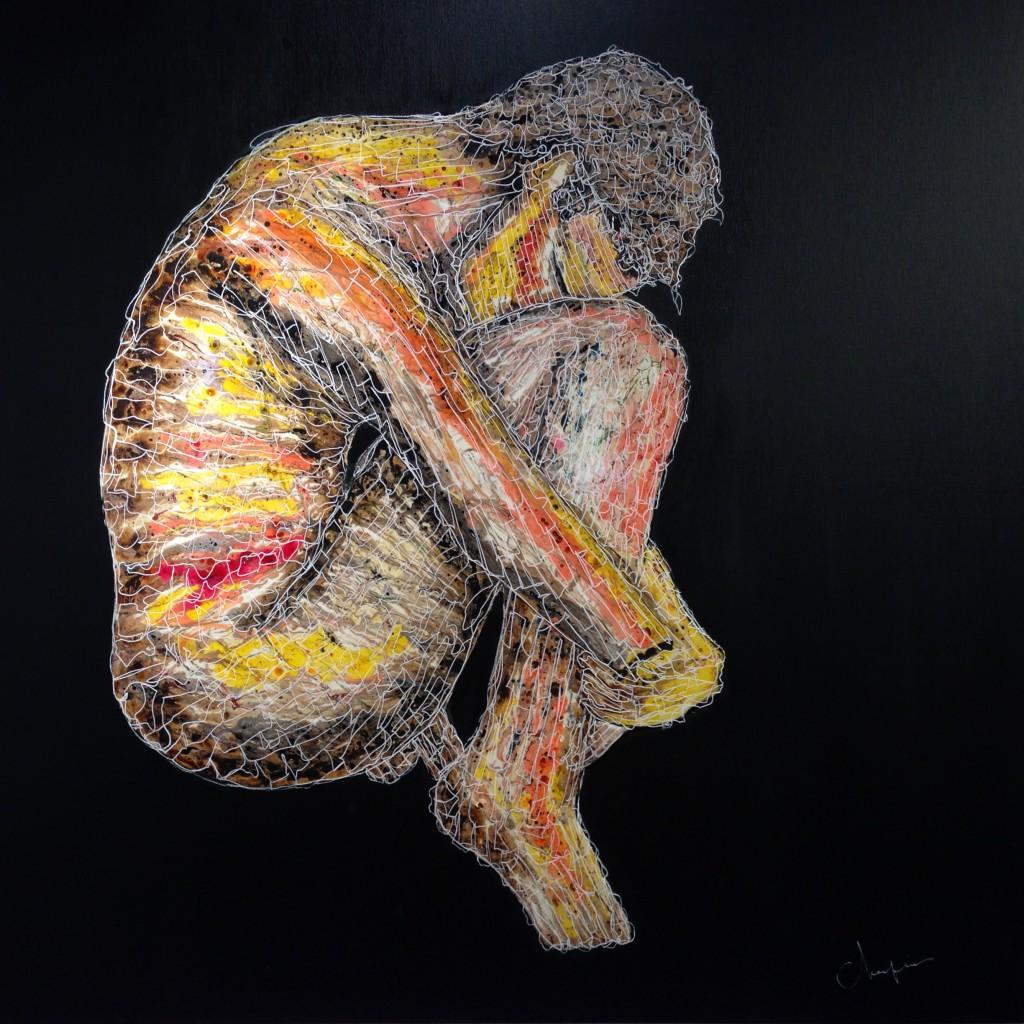 2015 - Huile, pigments, résine - 080 x 080 -