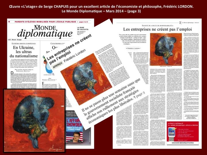 Publication dans le monde diplomatique - Serge CHAPUIS -  L'OTAGE