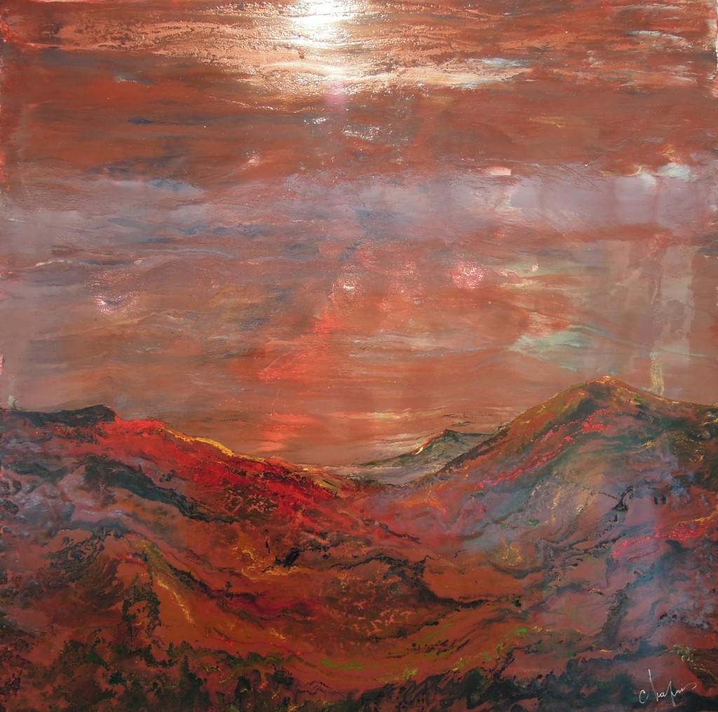 Les monts rouges (été indien dans le Montana)